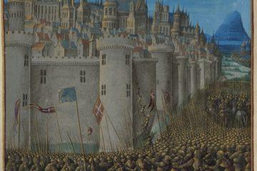 La prise d'Antioche par les croisés d'après une enluminure du XVe siècle