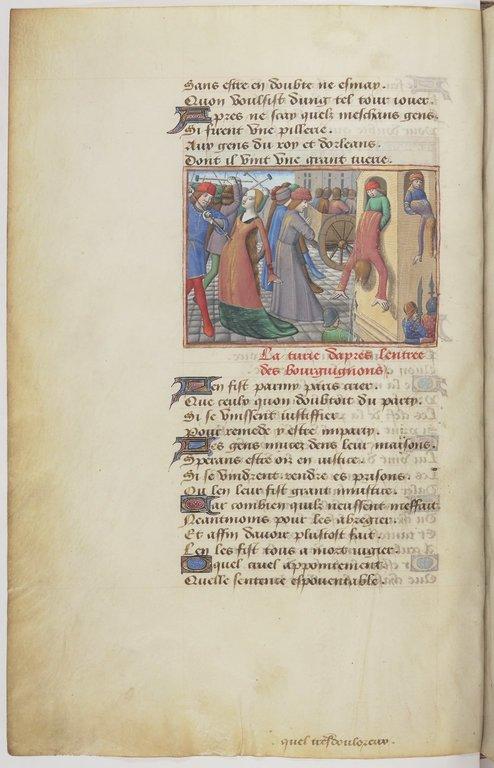 Bnf Français, 5054, fol. 16v, Massacre des habitants de Paris (1418), 1484