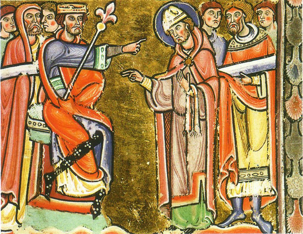 Saint Amand à la cour de Dagobert. Bibliothèque municipale de Valenciennes
