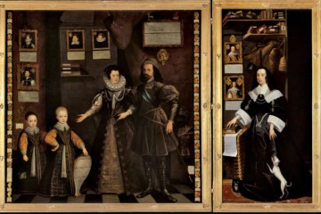 VAN BELCAMP Jan, Le Grand Portrait, 1646, la famille d'Anne, baronne de Clifford