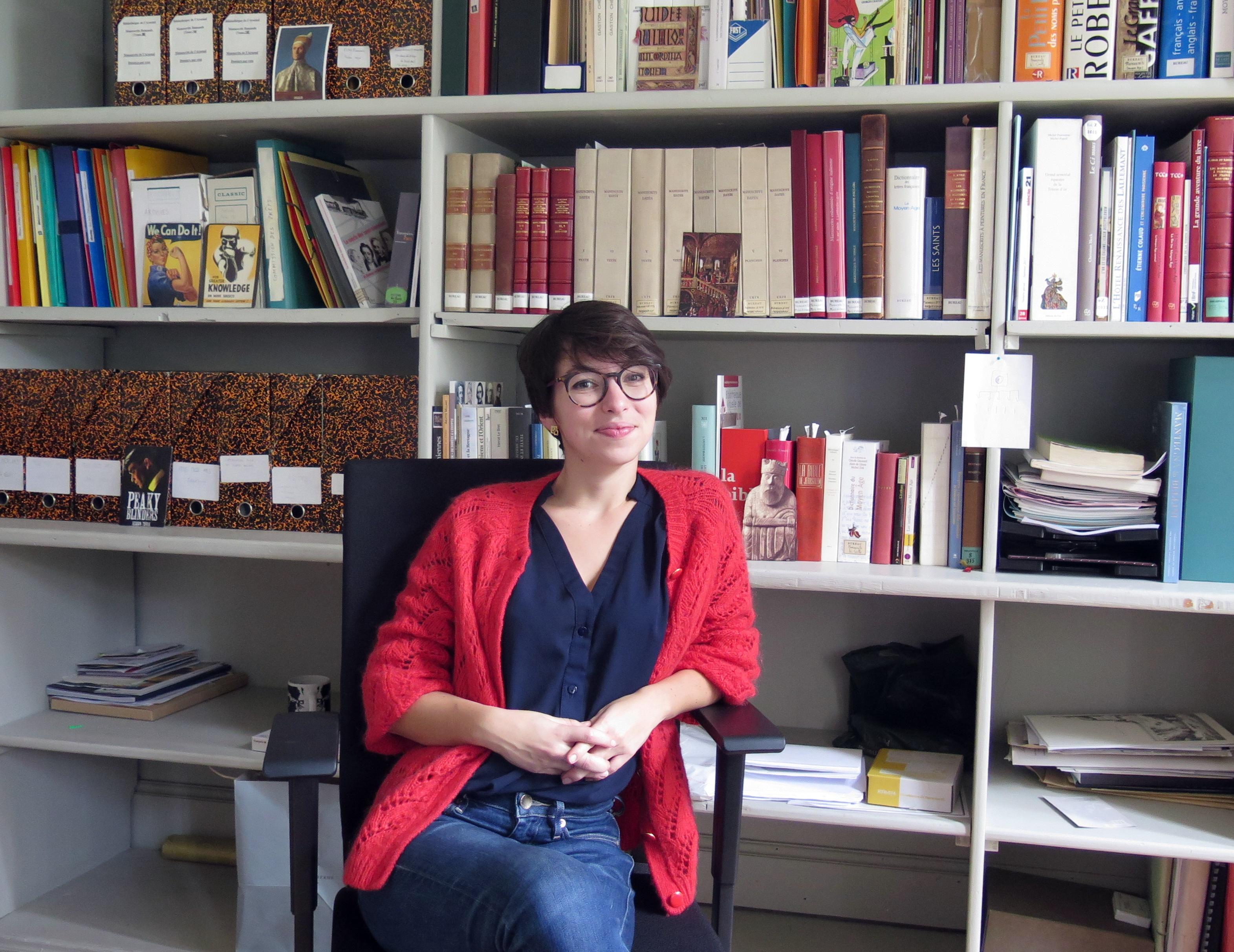 Louisa Torres à la Bibliothèque de l'Arsenal
