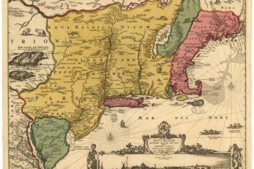 Novi Belgii Novaeque Angliae… (Carte de la Nouvelle-Belgique ou Nouvelle-Hollande), 1685, par Nicolaes Visscher