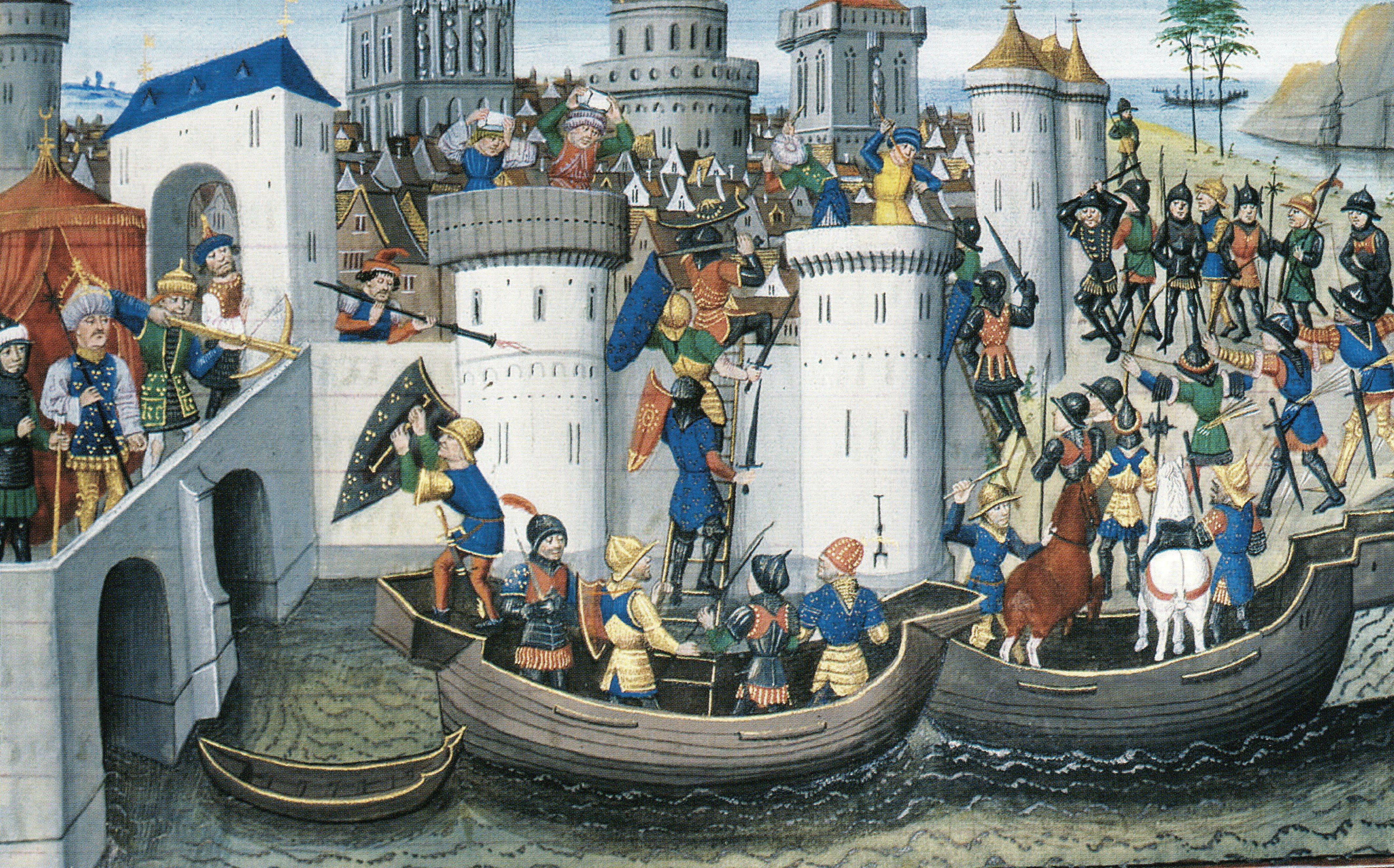 Paris, BnF - Bibliothèque de l'Arsenal, MS 5090 (XVe siècle), fol. 205r. Comment la cité de Constantinople fut prise d'assault