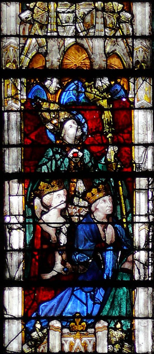 Jacques II et Jeanne II, Chapelle de Vendôme, Cathédrale de Chartres, vers 1416)