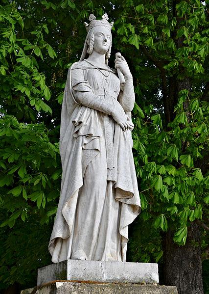 Statue de Sainte Bathilde, par Victor Thérasse, jardin du Luxembourg, Paris (6e)