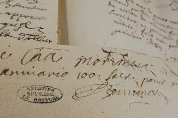Le mot laissé par le curé Sébastien Bennonot avant son suicide en 1689
