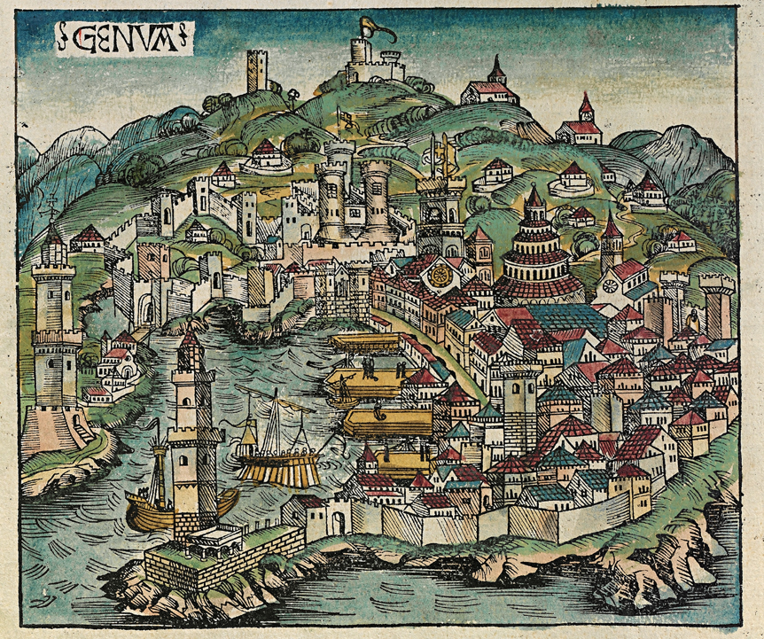 La ville de Gênes en 1493
