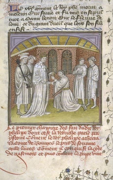 Philippe Ier , roi de France (1060-1118), achetant la vicomté de Bourges