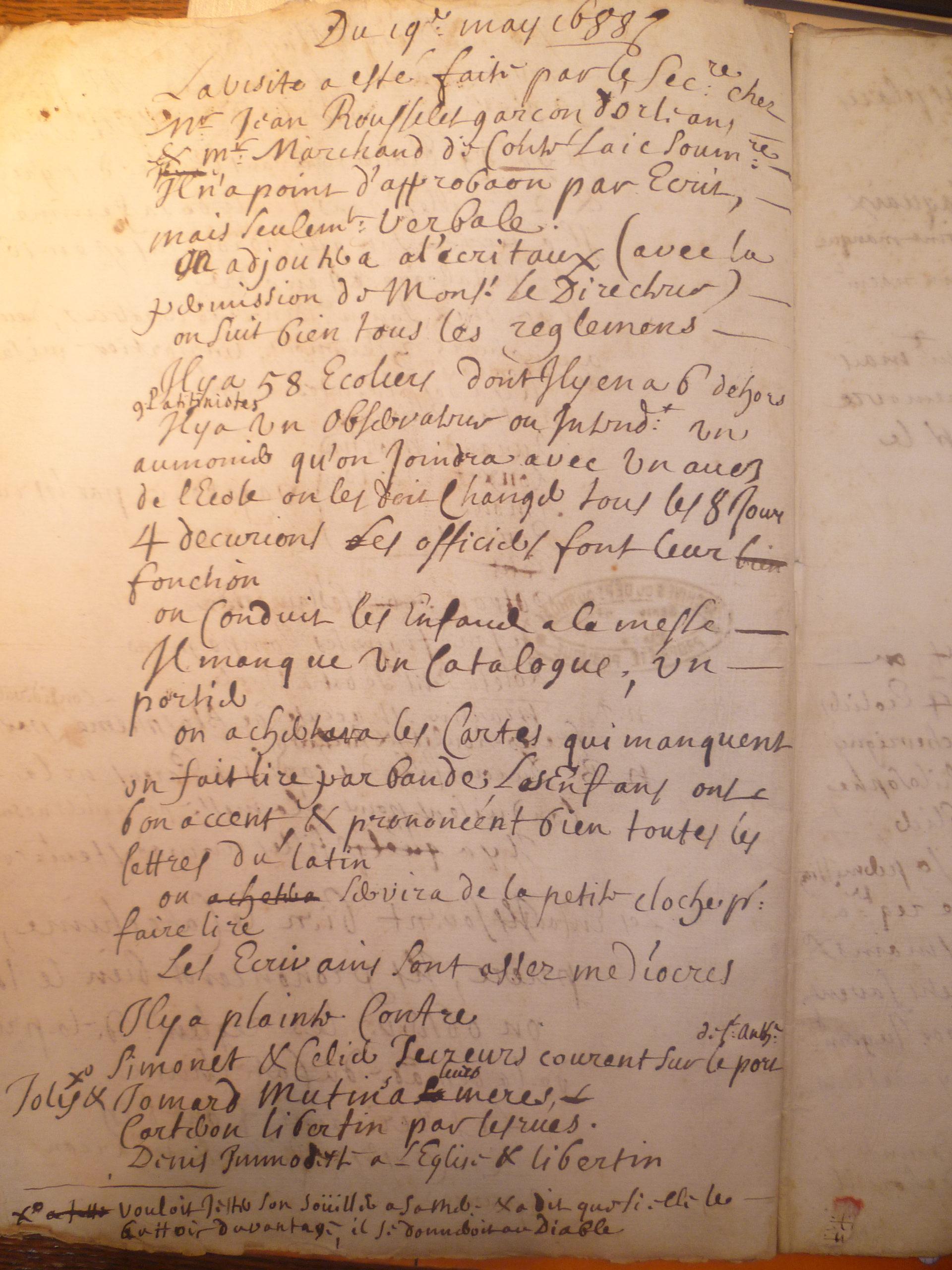Cahiers d'Inspection conservés aux Archives Départementales du Rhône.
