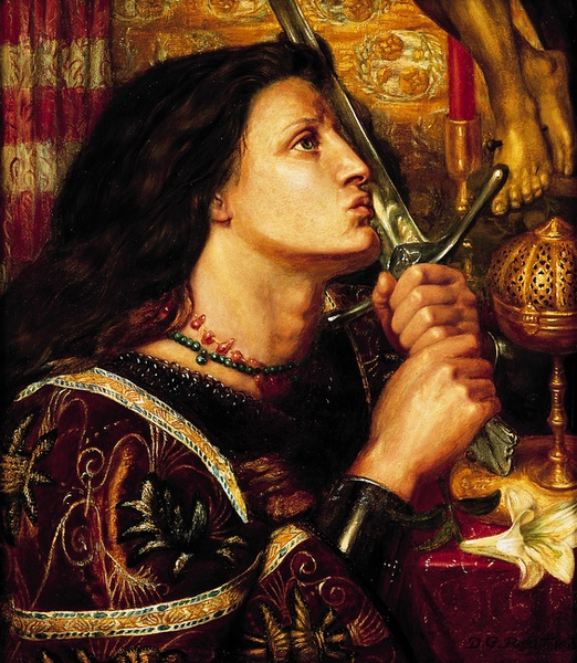 1863 Joan of Arc Kissing the Sword of Delivrance Dante Gabriel Rossetti