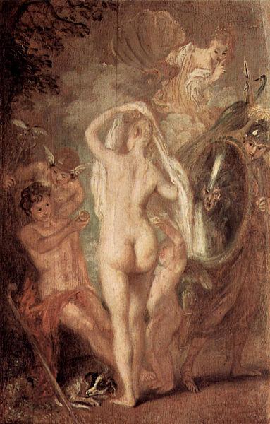 Le jugement de Pâris, Antoine Watteau