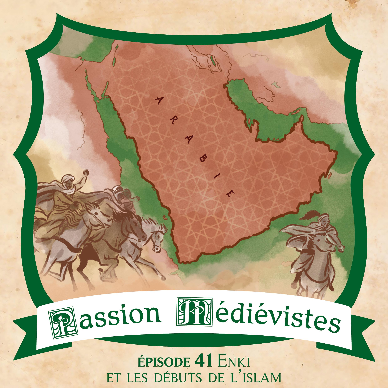 Illustration de l'épisode 41 de Passion Médiévistes par l'artiste Din
