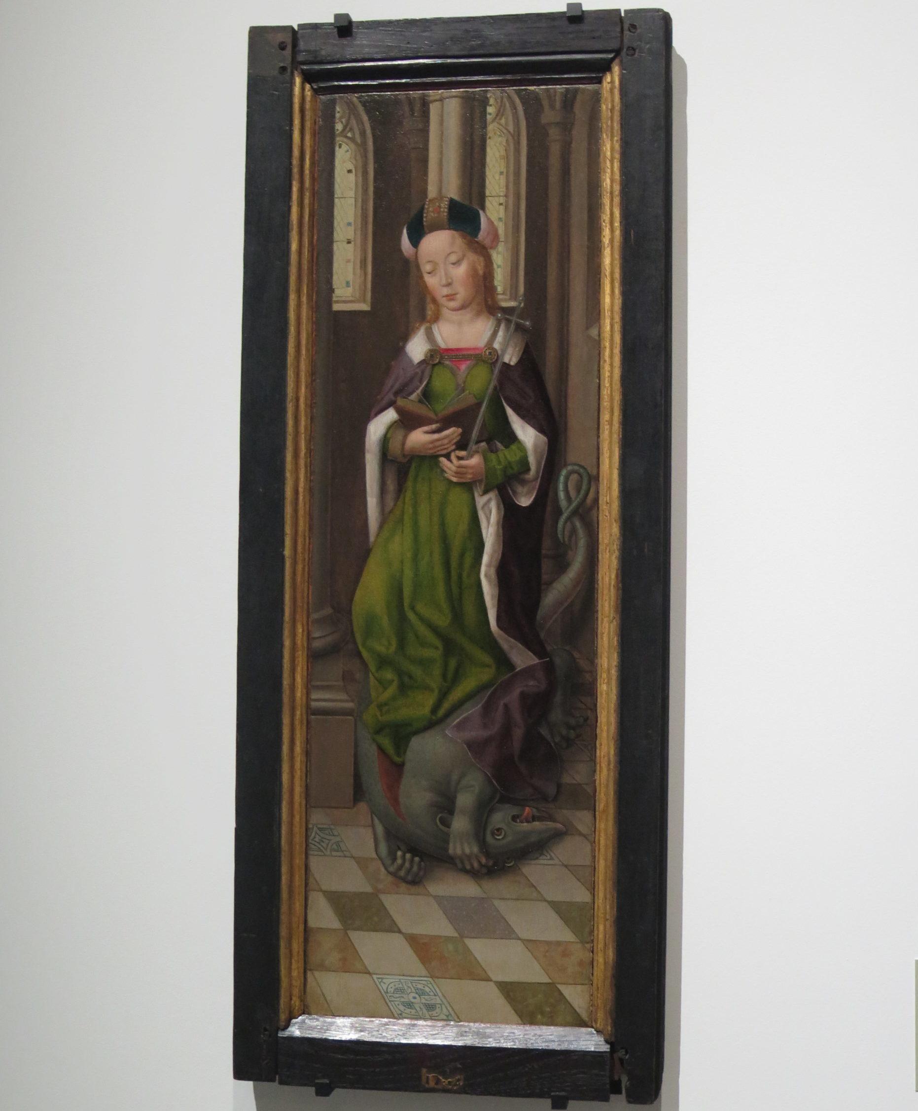 Sainte Marguerite Peinture sur bois Pays-Bas ou France du Nord, vers 1500 Fonds Alexandre Du Sommerard, 1843 Cl. 864 b
