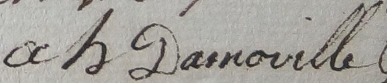 Une signature de Madame Eloffe