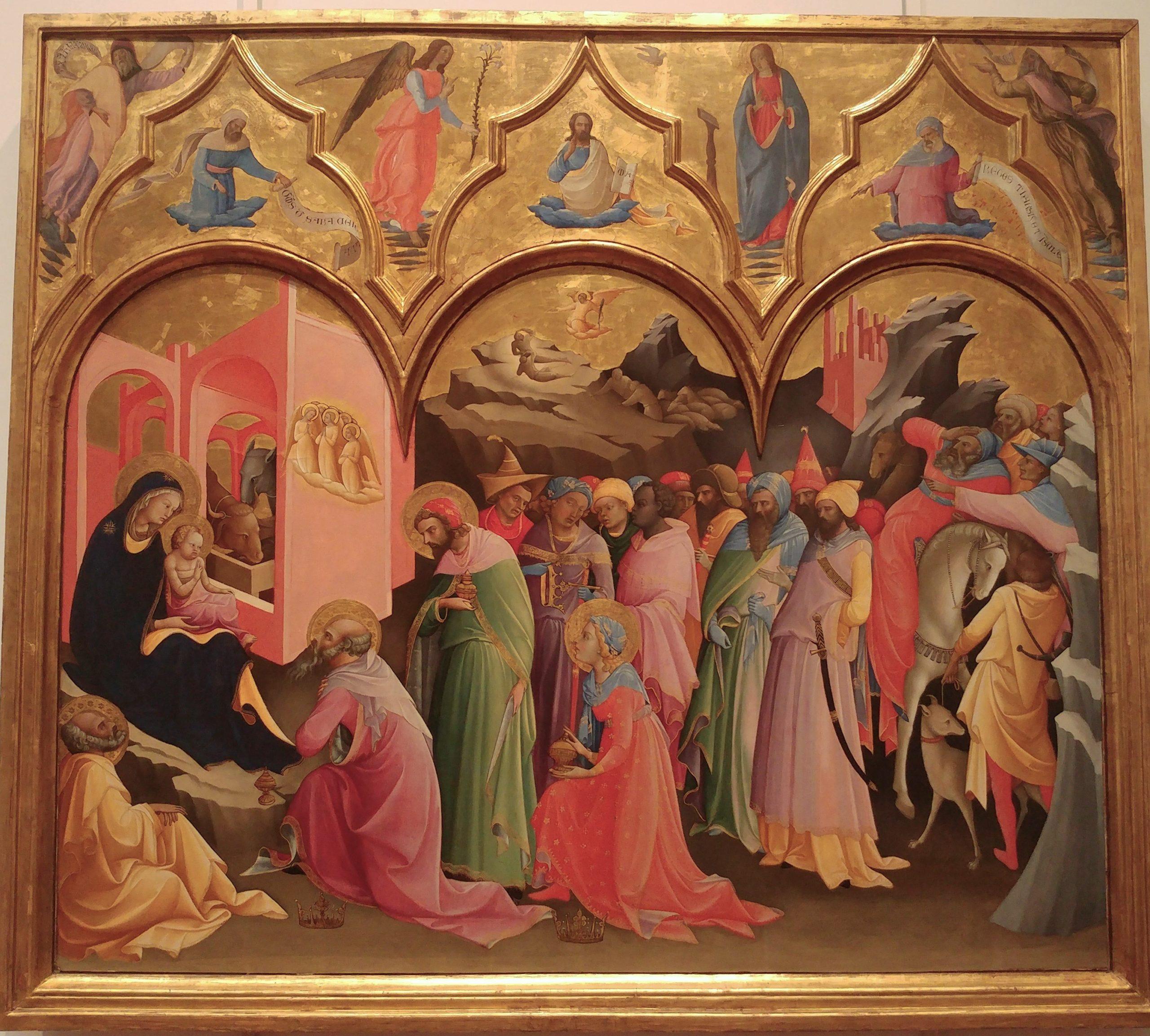 Annonciation de Lorenzo Monaco conservée à la Galerie des Offices de Florence de 1410-1415