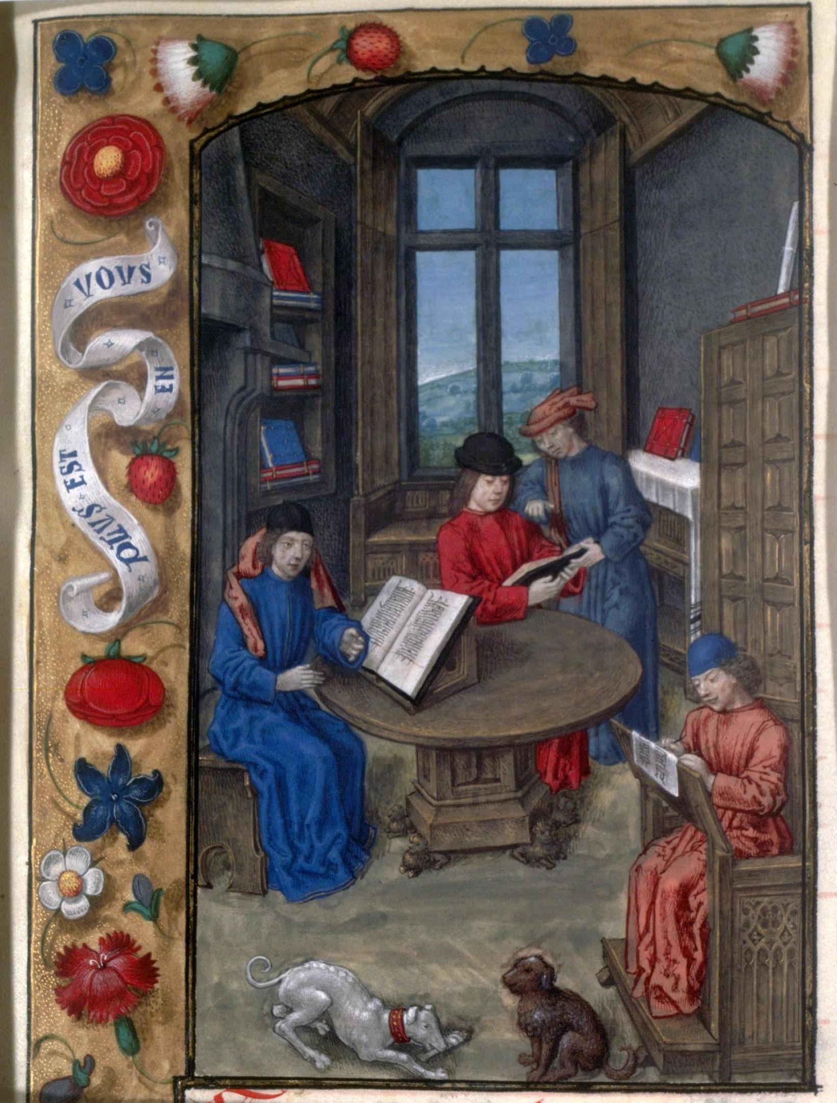 Flavius Josèphe dans son cabinet (Paris, BnF, Français 11 f.1)