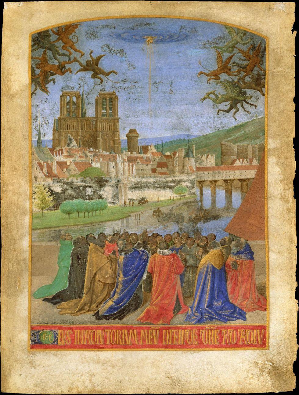 Enluminure de Jean Fouquet, extrait d'«Heures d'Etienne Chevalier», 1452-1460 (Photo Domaine public - Metropolitan Museum of Art de New York)