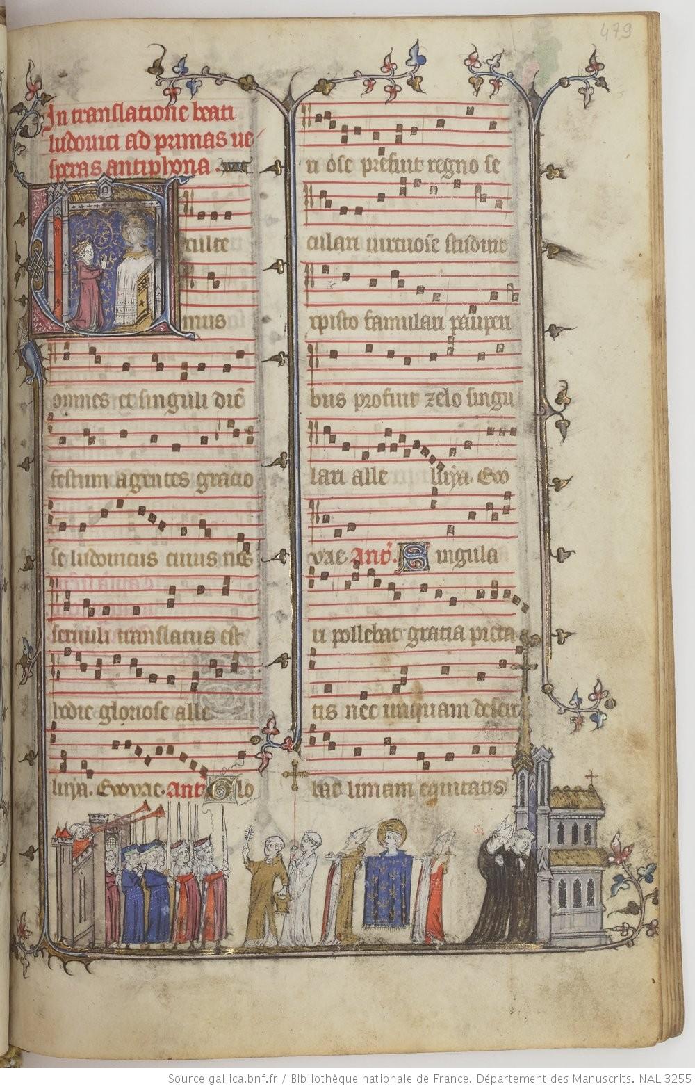 Bréviaire dominicain à destination royale (Louis X le Hutin), dit de Saint-Louis de Poissy