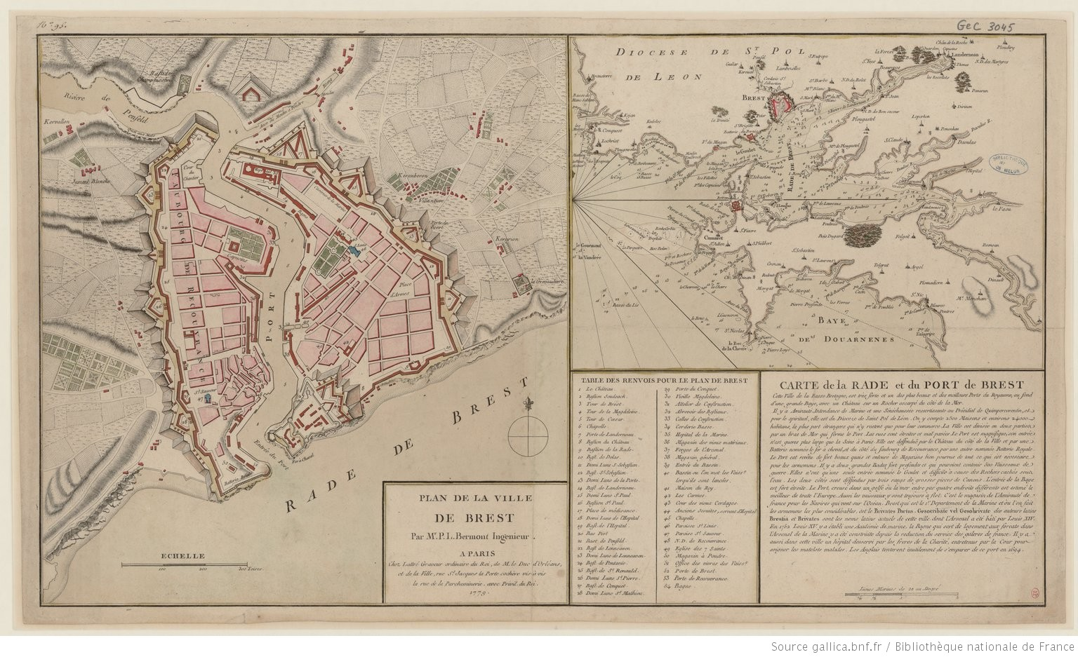 Plan de la ville de Brest : Par Mr P. L. Bermont Ingénieur