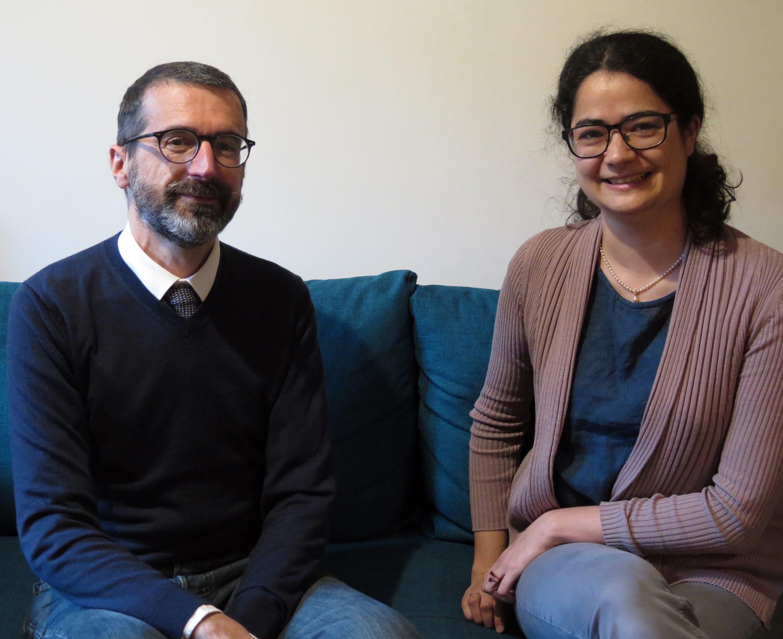 Pierre Chastang et Catherine Rideau-Kikuchi au micro de Passion Médiévistes