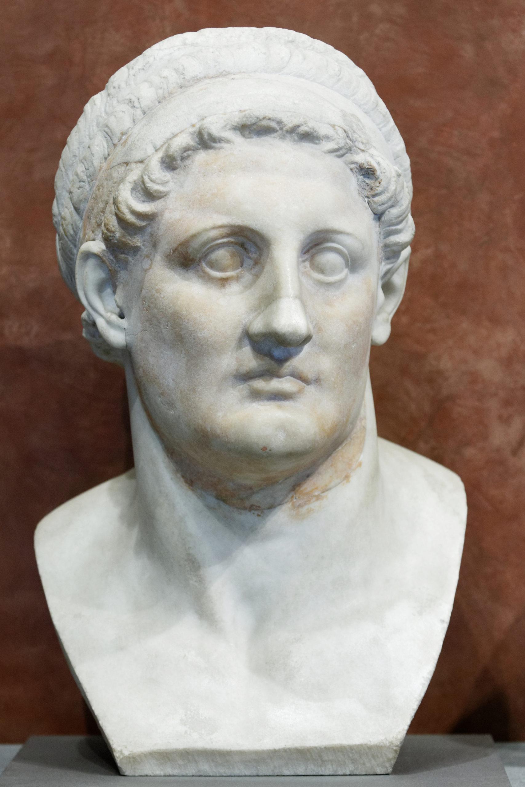 Buste en marbre de Ptolémée Ier Sôter daté du IIIe s. av. J.-C. et conservé au musée du Louvre