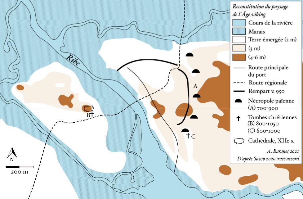Carte de Ribe aux IXe-Xe siècles, par Angela Baranes
