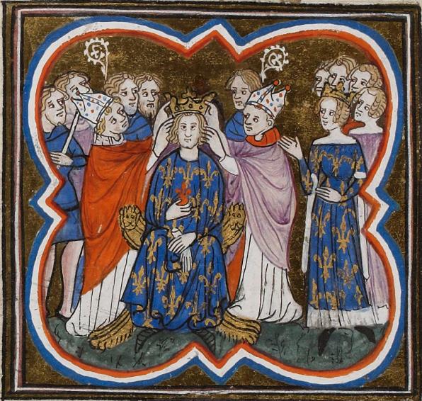 Couronnement de Charles IV le Bel