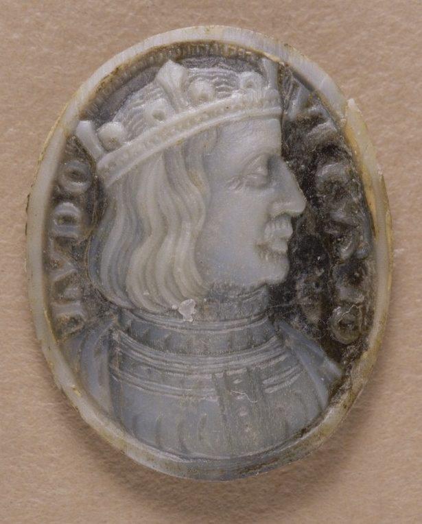 Buste de Louis X de profil